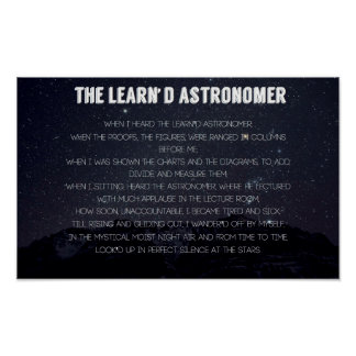 The Learn'd Astronomer Poster
