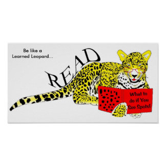 The Learned Leopard Reads Poster