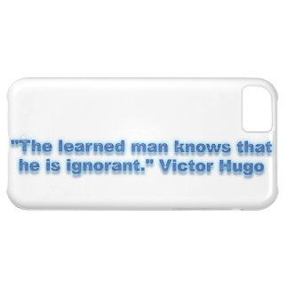 """""""The learned man knows that he is ignorant."""" iPhone 5C Cover"""