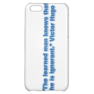 """""""The learned man knows that he is ignorant."""" iPhone 5C Covers"""