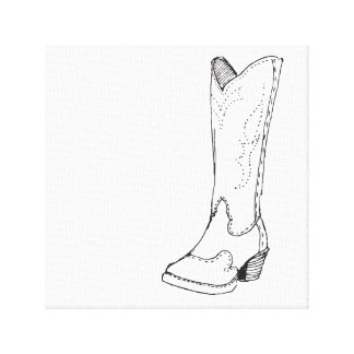 The Leather Boot Canvas Print