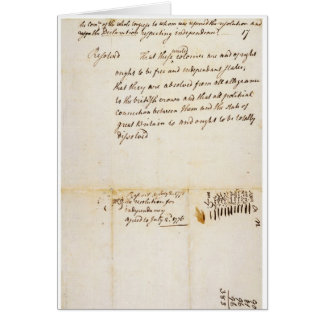 The Lee Resolution of Independence July 2 1776 Card