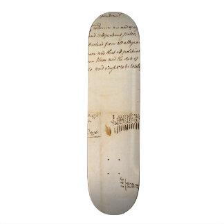 The Lee Resolution of Independence July 2 1776 Skate Decks
