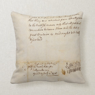The Lee Resolution of Independence July 2 1776 Throw Pillow