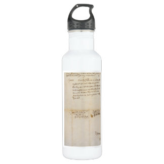 The Lee Resolution of Independence July 2 1776 Water Bottle