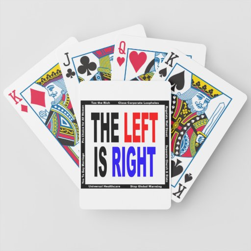 The Left is Right Bicycle Playing Cards