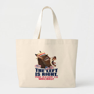 The Left Is Right Donkey Head Bag