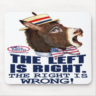 The Left Is Right Donkey Head  Mousepad
