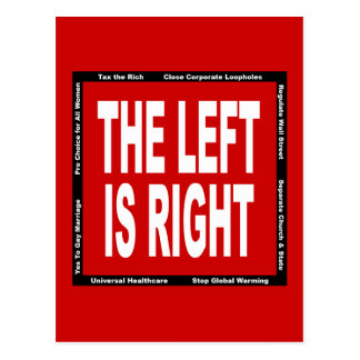 The Left is Right Postcard
