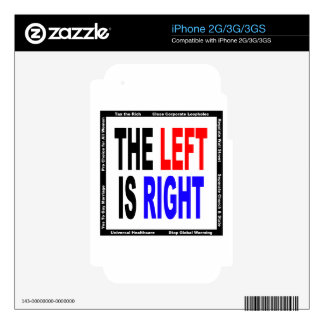The Left is Right Decal For The iPhone 2G