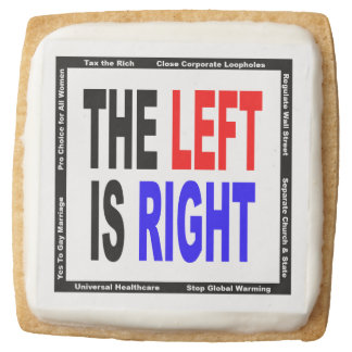 The Left is Right Square Shortbread Cookie