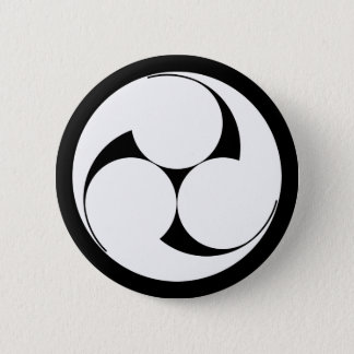 The left three-sided crest (sketch coming) pinback button