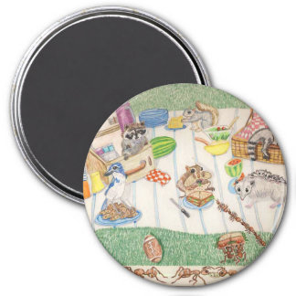 The Leftover Picnic 3 Inch Round Magnet