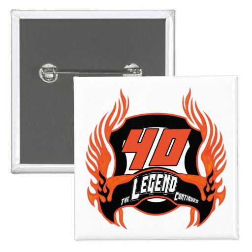 The Legend 40th Birthday Gifts Buttons