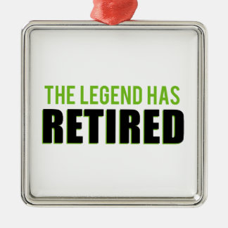 The Legend Has Retired Metal Ornament