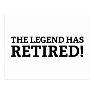 The Legend Has Retired Postcard