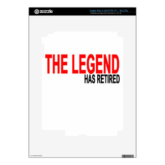 The Legend has Retired T-Shirts.png Skin For iPad 3