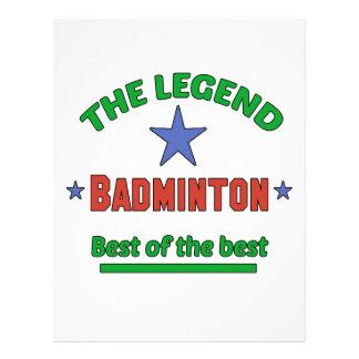The Legend Of Badminton Letterhead