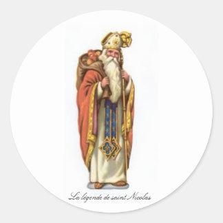 The legend of Nicolas saint Classic Round Sticker