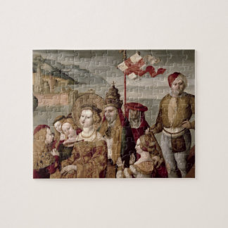 The Legend of St. Ursula, c.1530 (oil on panel) Jigsaw Puzzle