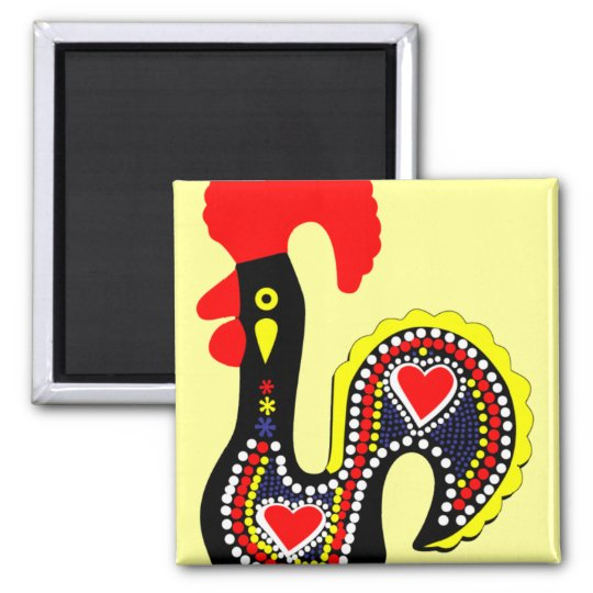 The Legend of the Rooster of Barcelos Magnet