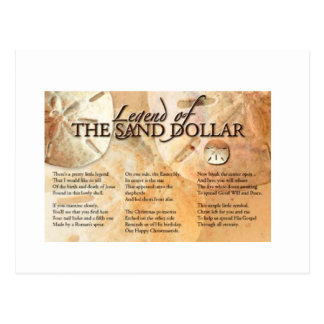 The Legend of the Sand Dollar Postcard