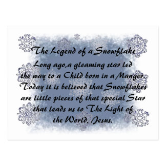 The Legend of the Snowflake Postcard