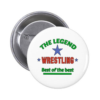 The Legend Of Wrestling 2 Inch Round Button