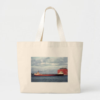 The Legendary S.S. Edmund Fitzgerald Large Tote Bag