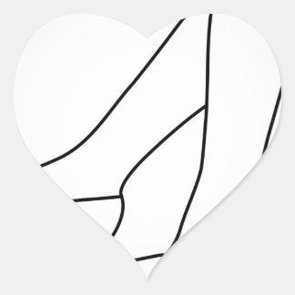 the legs of a woman wearing high heels heart sticker