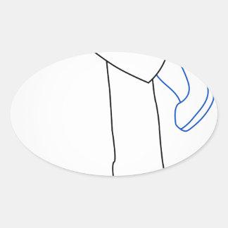the legs of a woman wearing high heels oval sticker