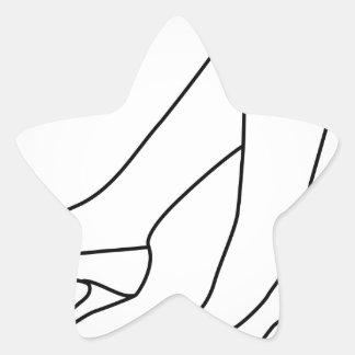 the legs of a woman wearing high heels star sticker