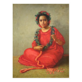 'The Lei Maker' - Theodore Wores Postcard