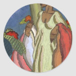 The Lei Seller by Arman Manookia c. 1920's Round Sticker