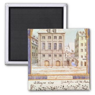 The Leipzig Gewandhaus 2 Inch Square Magnet