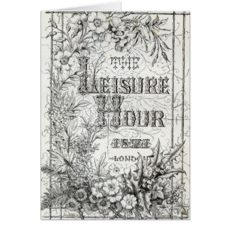 The Leisure Hour, London, 1891 Card