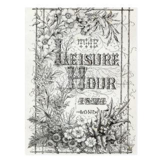 The Leisure Hour, London, 1891 Postcard