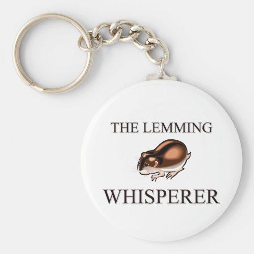 The Lemming Whisperer Basic Round Button Keychain