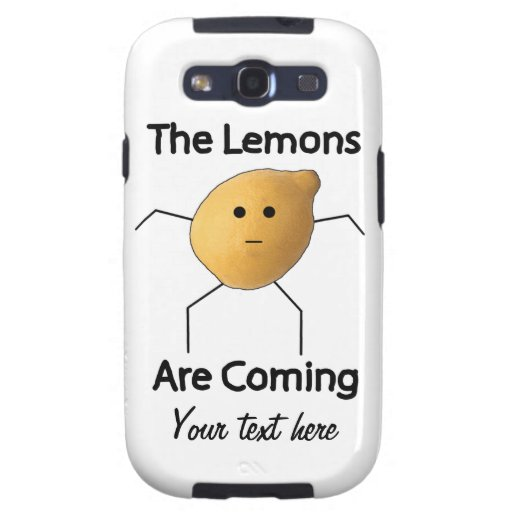 The Lemons are Coming! Samsung Galaxy S3 Case