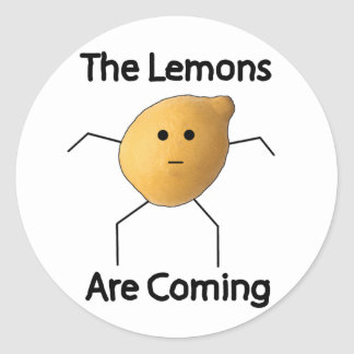 The Lemons are Coming! Stickers