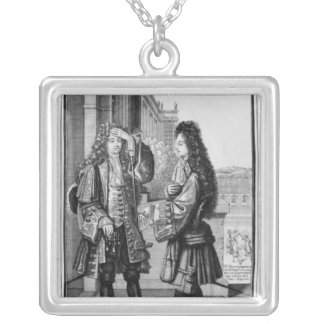 The Lender and the Borrower Silver Plated Necklace