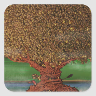 The Lending Tree Square Sticker
