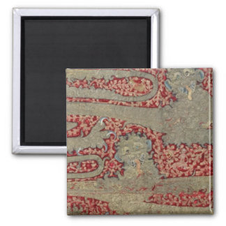 The Leopards of England, 15th century (tapestry) 2 Inch Square Magnet