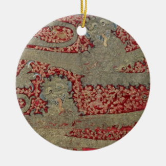 The Leopards of England, 15th century (tapestry) Ceramic Ornament