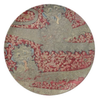 The Leopards of England, 15th century (tapestry) Melamine Plate