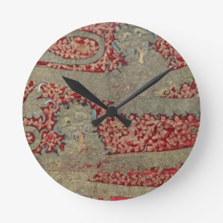 The Leopards of England, 15th century (tapestry) Round Clock