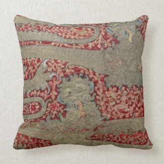 The Leopards of England, 15th century (tapestry) Throw Pillow