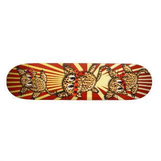 The Leopard's Pride Samurai Kittys Skateboard Deck