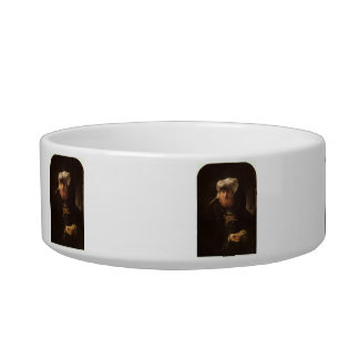 The leper king Uzziah by Rembrandt Cat Food Bowls