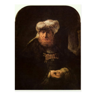 The leper king Uzziah by Rembrandt Postcard